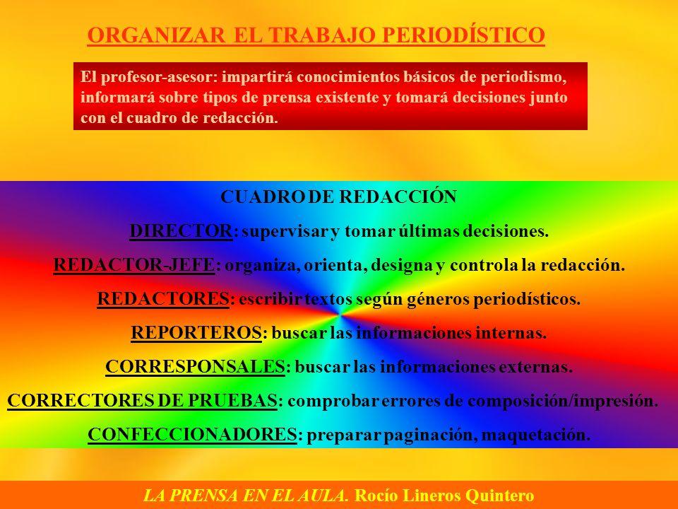 ORGANIZAR EL TRABAJO PERIODÍSTICO