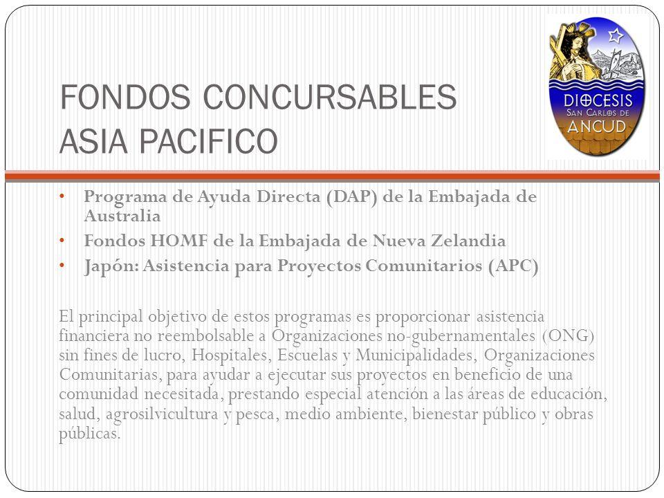 FONDOS CONCURSABLES ASIA PACIFICO