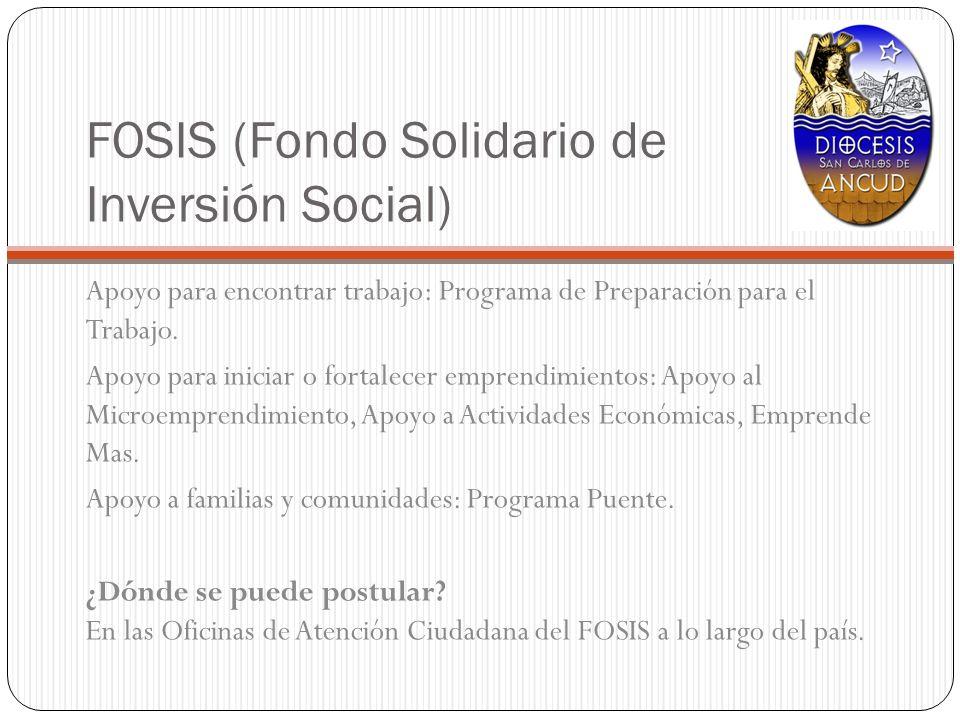 FOSIS (Fondo Solidario de Inversión Social)