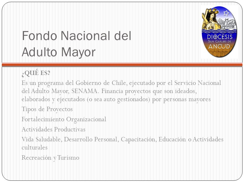Fondo Nacional del Adulto Mayor