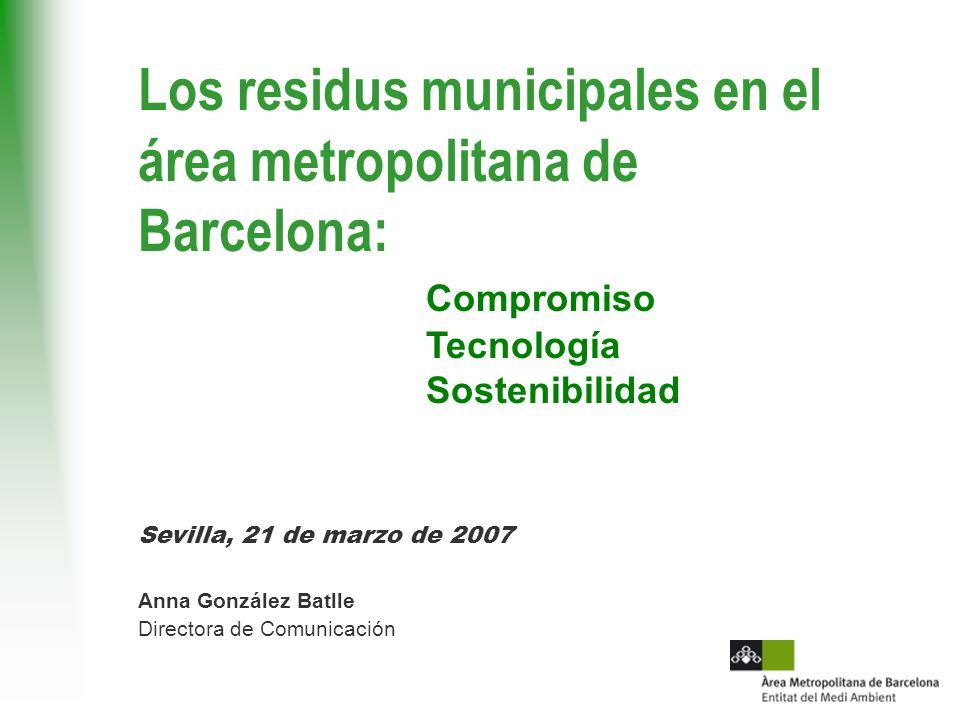 Los residus municipales en el área metropolitana de Barcelona: