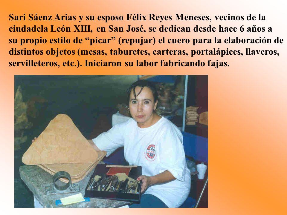 Sari Sáenz Arias y su esposo Félix Reyes Meneses, vecinos de la