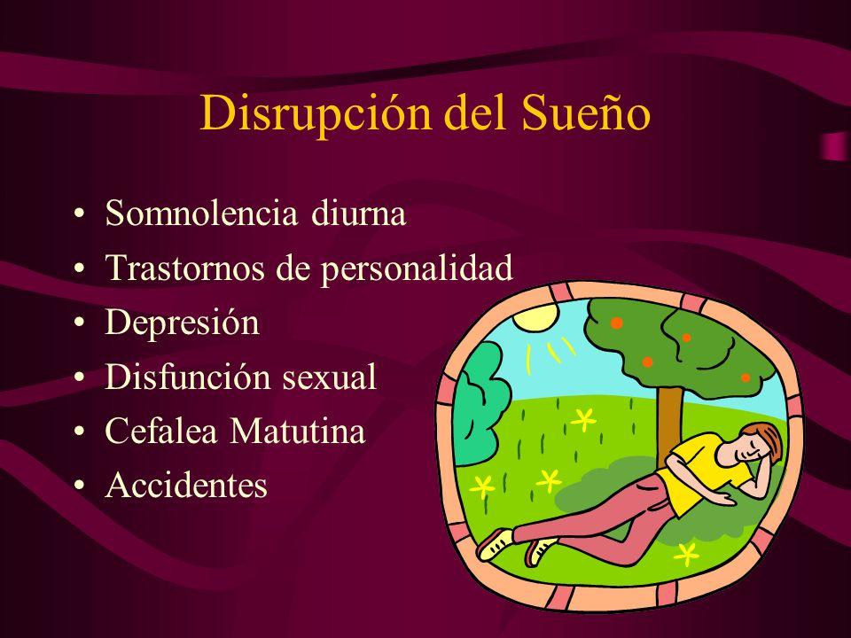 Disrupción del Sueño Somnolencia diurna Trastornos de personalidad