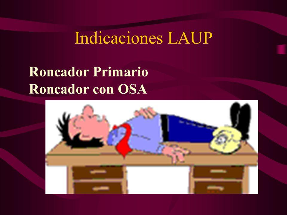 Indicaciones LAUP Roncador Primario Roncador con OSA