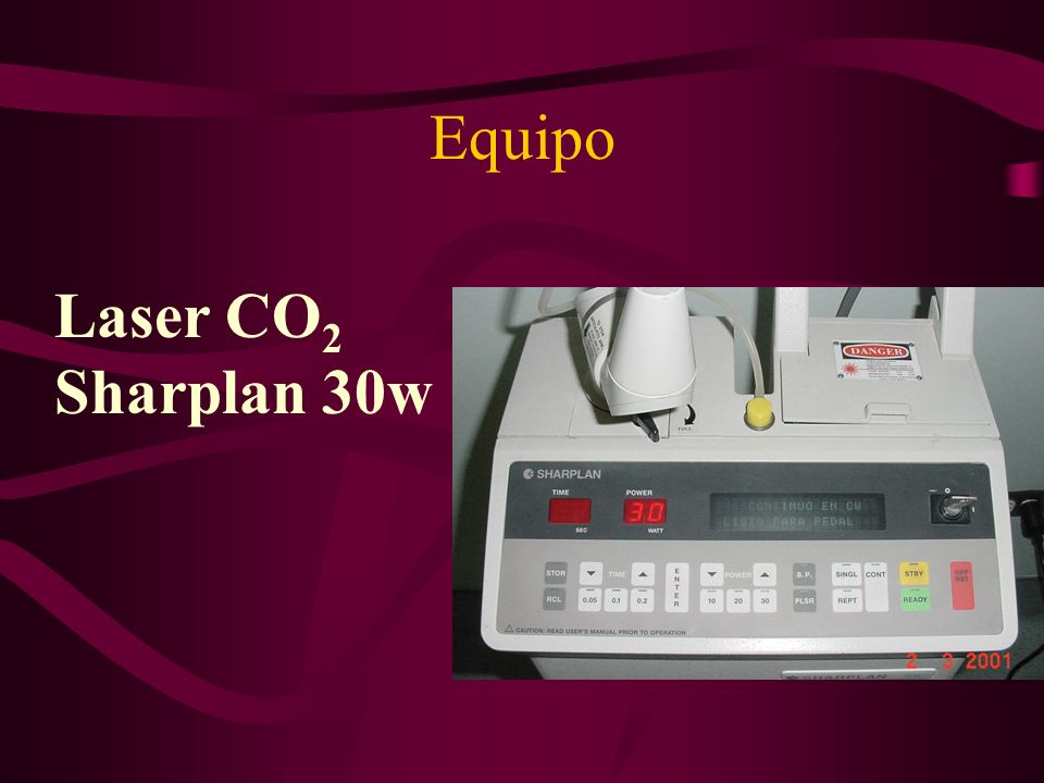 Equipo Laser CO2 Sharplan 30w