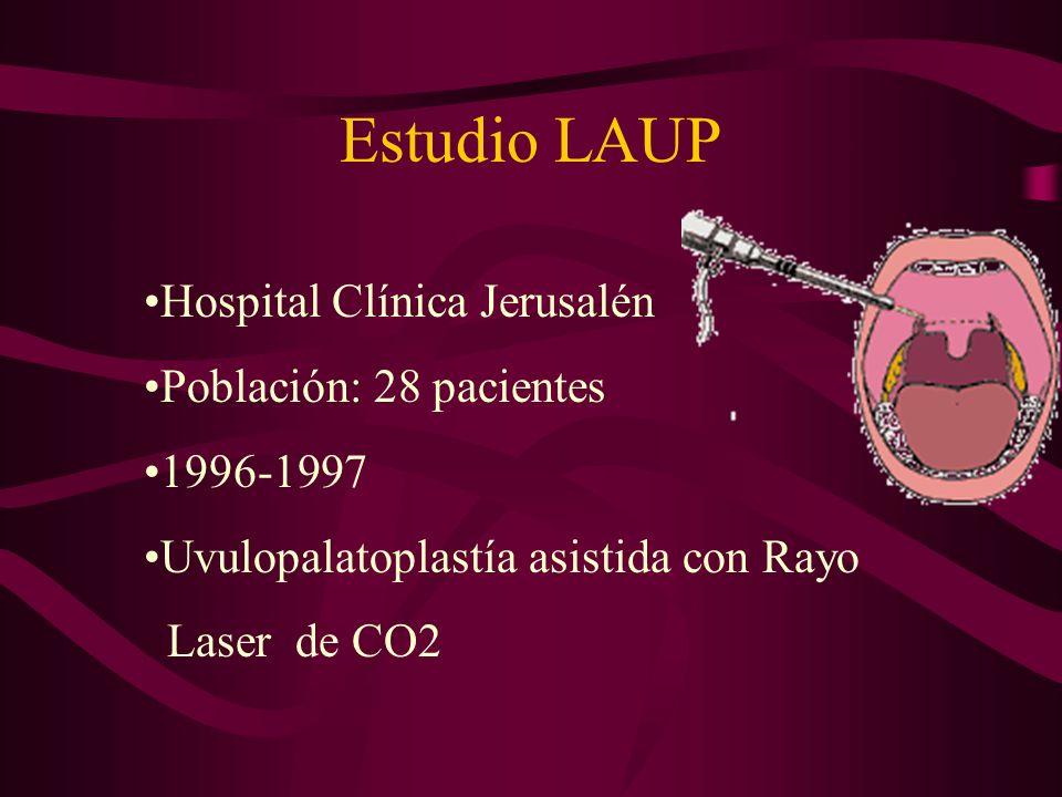 Estudio LAUP Hospital Clínica Jerusalén Población: 28 pacientes