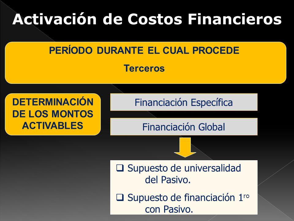 Activación de Costos Financieros