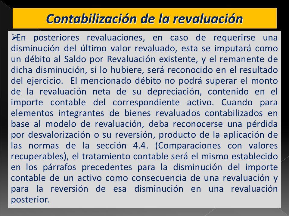 Contabilización de la revaluación