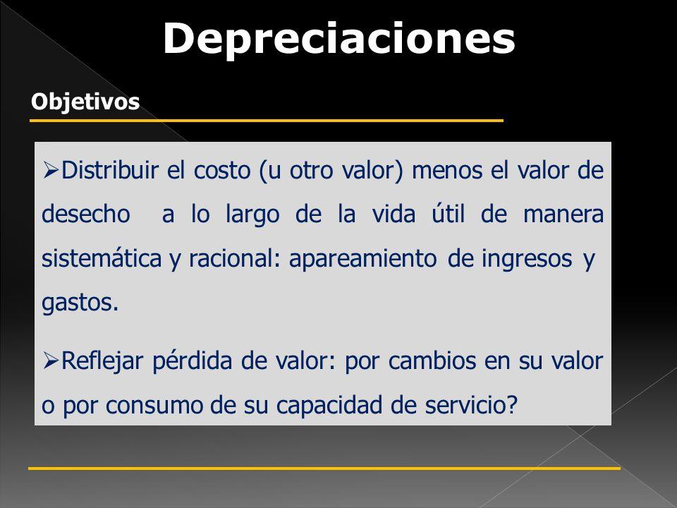 Depreciaciones Objetivos.