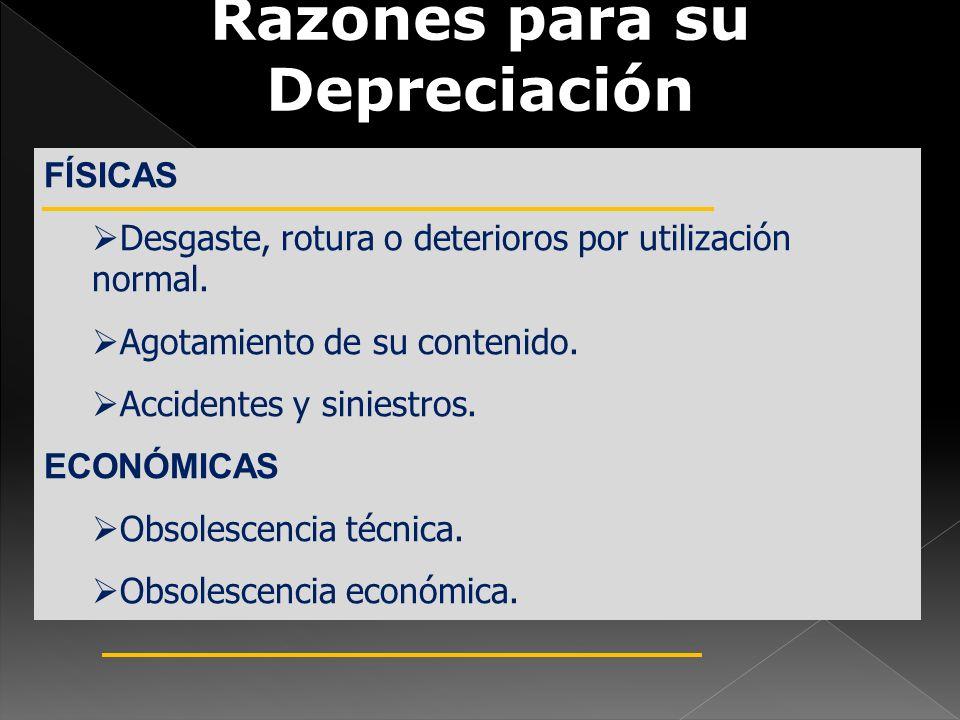 Razones para su Depreciación
