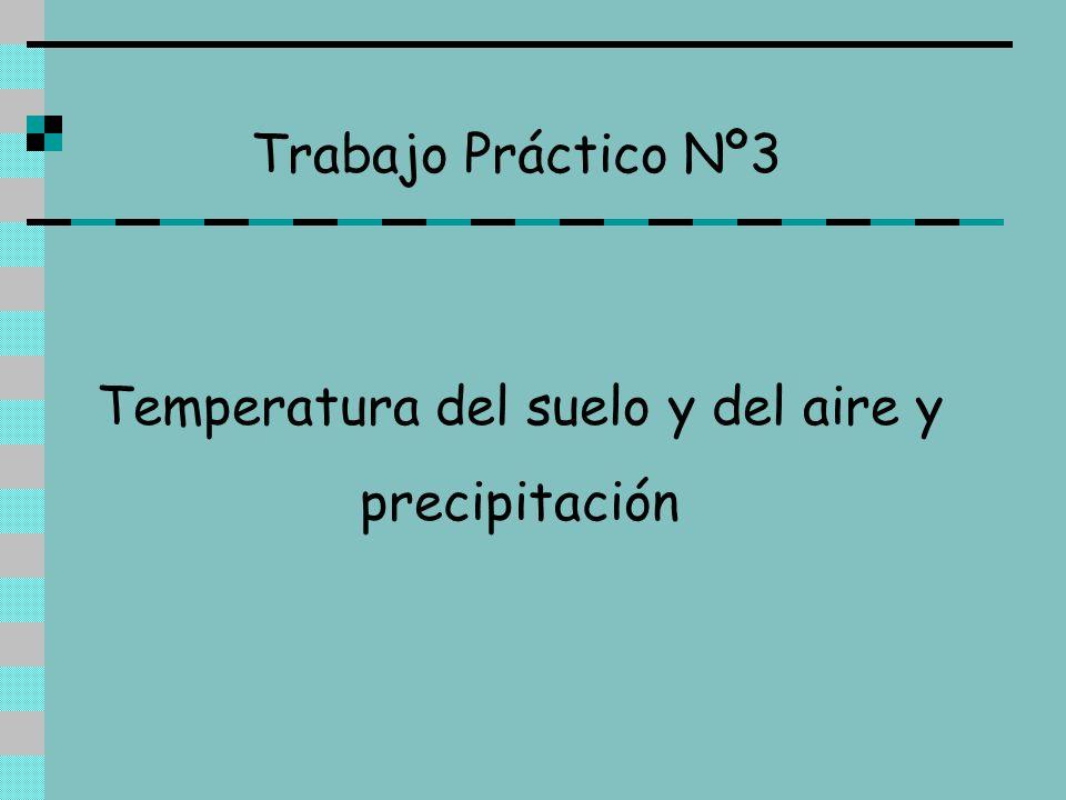Temperatura del suelo y del aire y precipitación