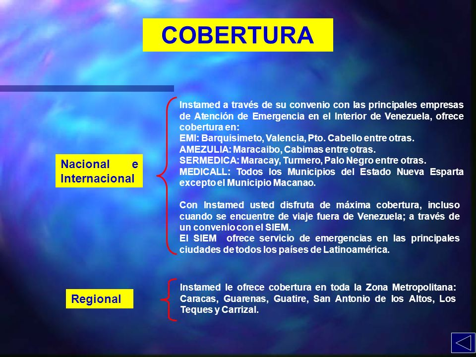 COBERTURA Nacional e Internacional Regional