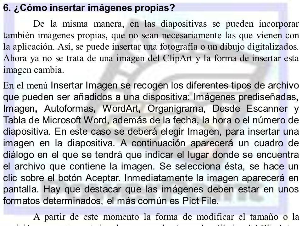 6. ¿Cómo insertar imágenes propias