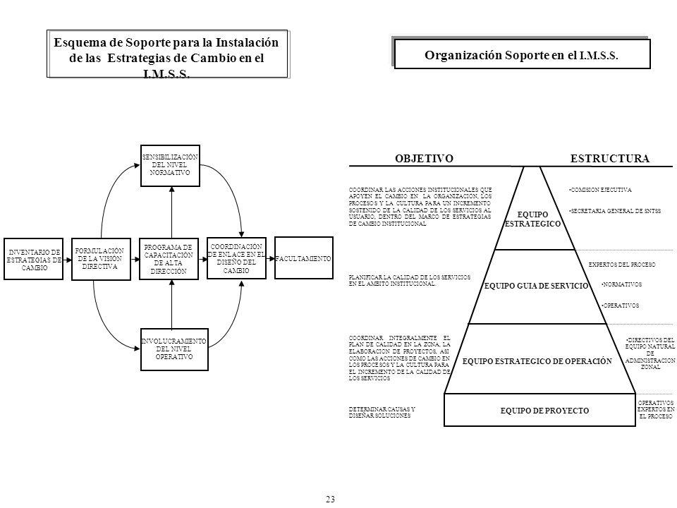 Organización Soporte en el I.M.S.S.