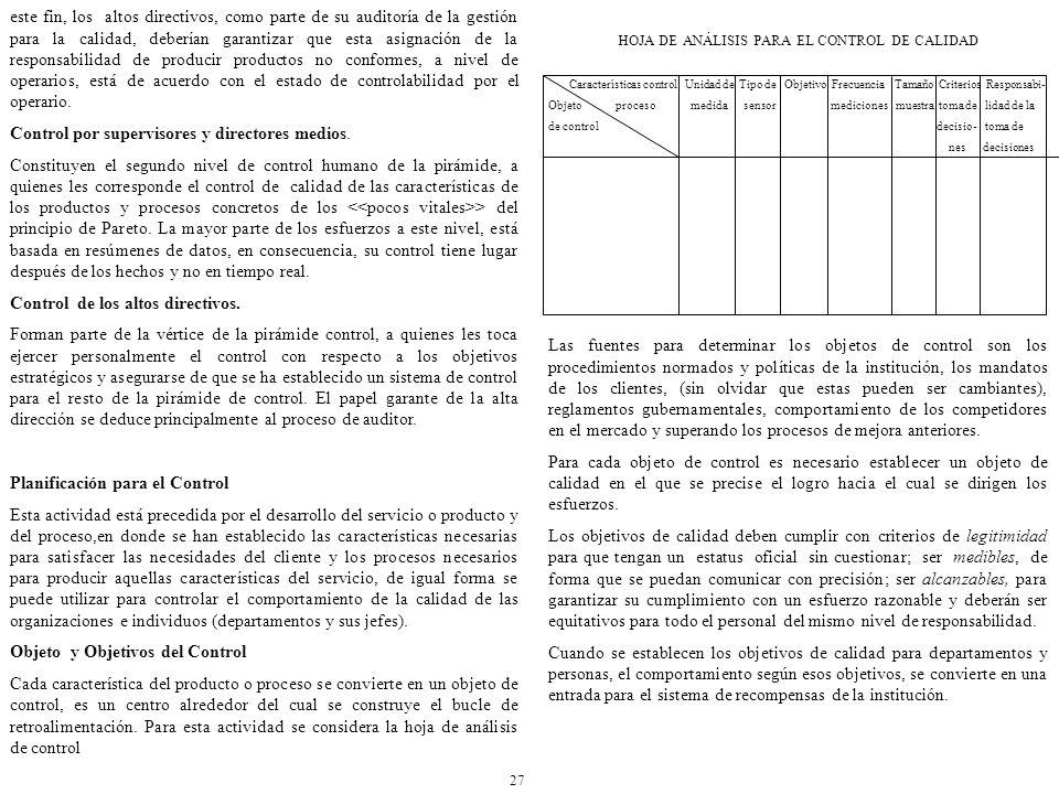 HOJA DE ANÁLISIS PARA EL CONTROL DE CALIDAD