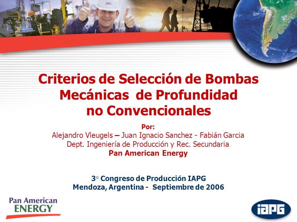Criterios de Selección de Bombas Mecánicas de Profundidad