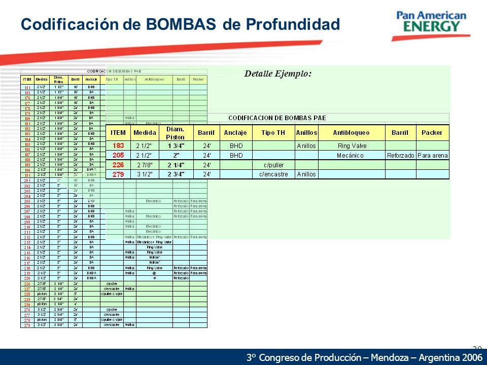 Codificación de BOMBAS de Profundidad