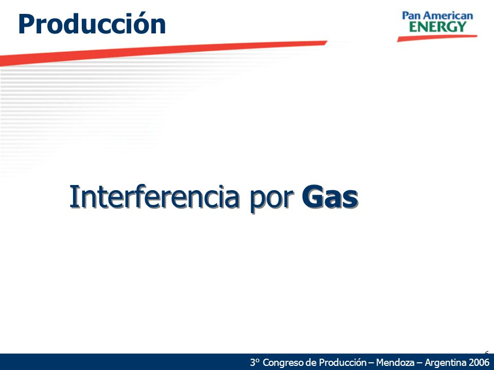 Interferencia por Gas Producción