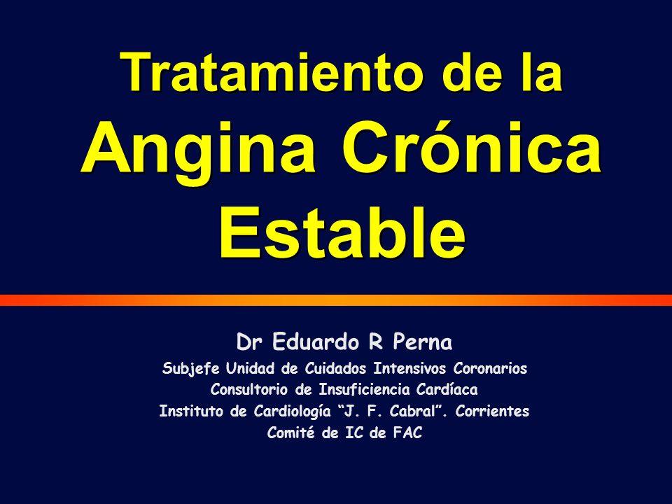 Tratamiento de la Angina Crónica Estable