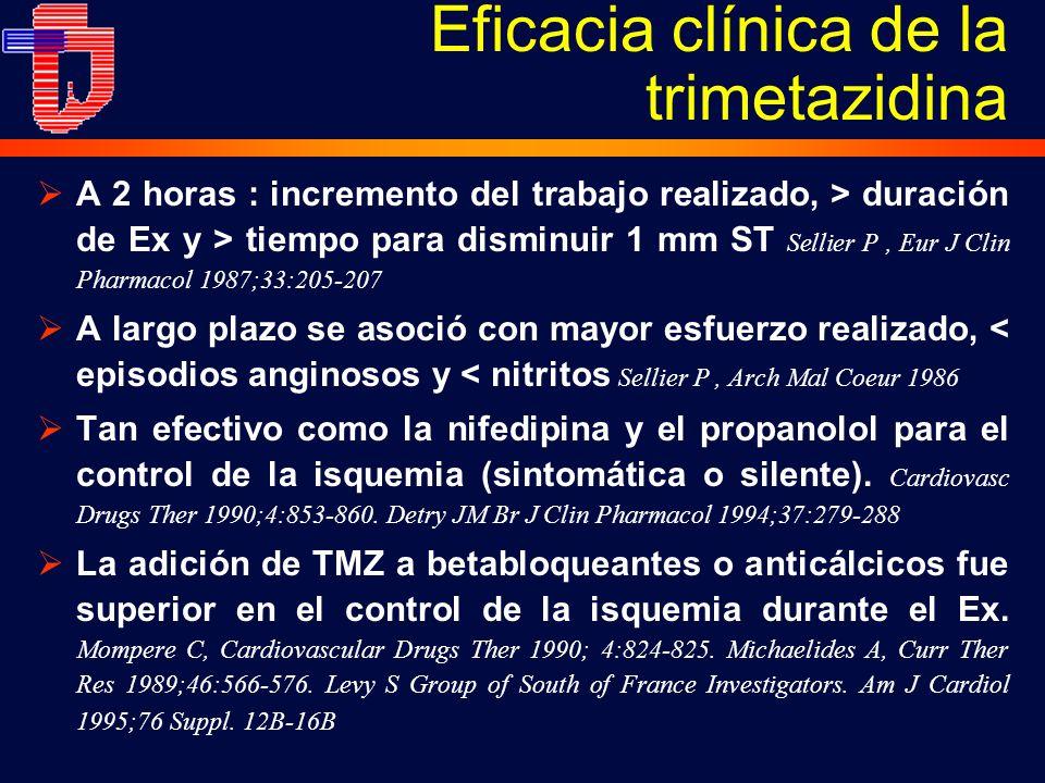 Eficacia clínica de la trimetazidina