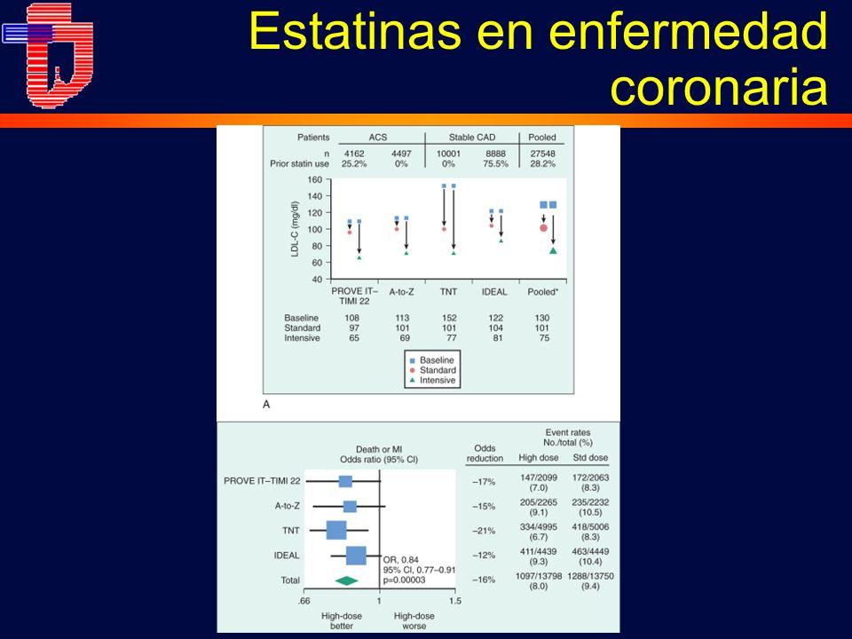 Estatinas en enfermedad coronaria