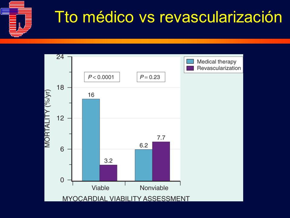 Tto médico vs revascularización