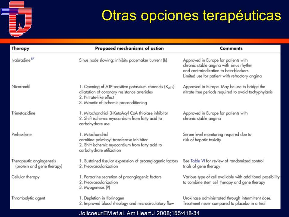 Otras opciones terapéuticas