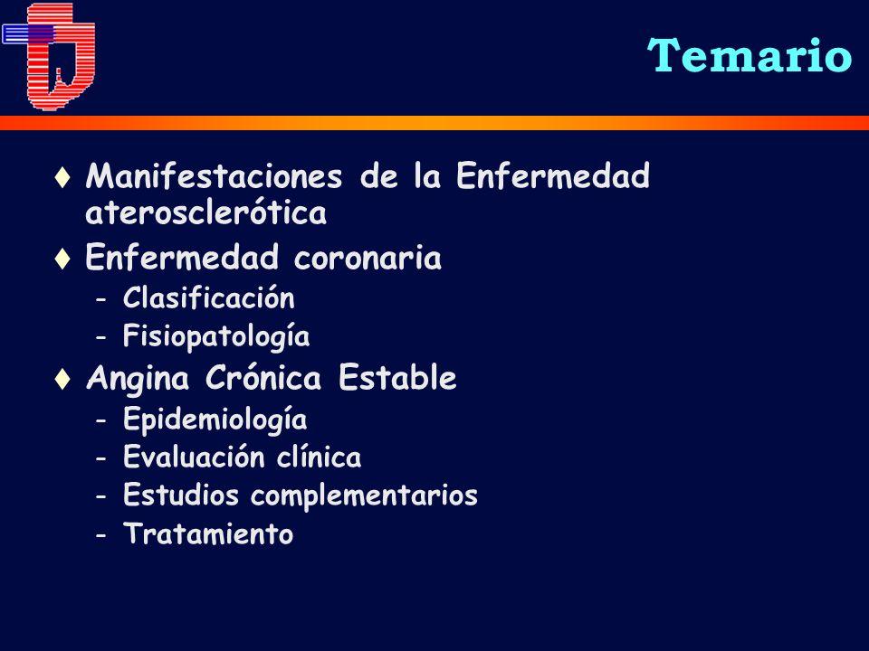 Temario Manifestaciones de la Enfermedad aterosclerótica