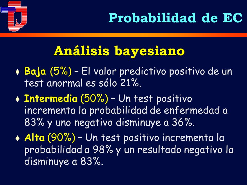 Probabilidad de EC Análisis bayesiano