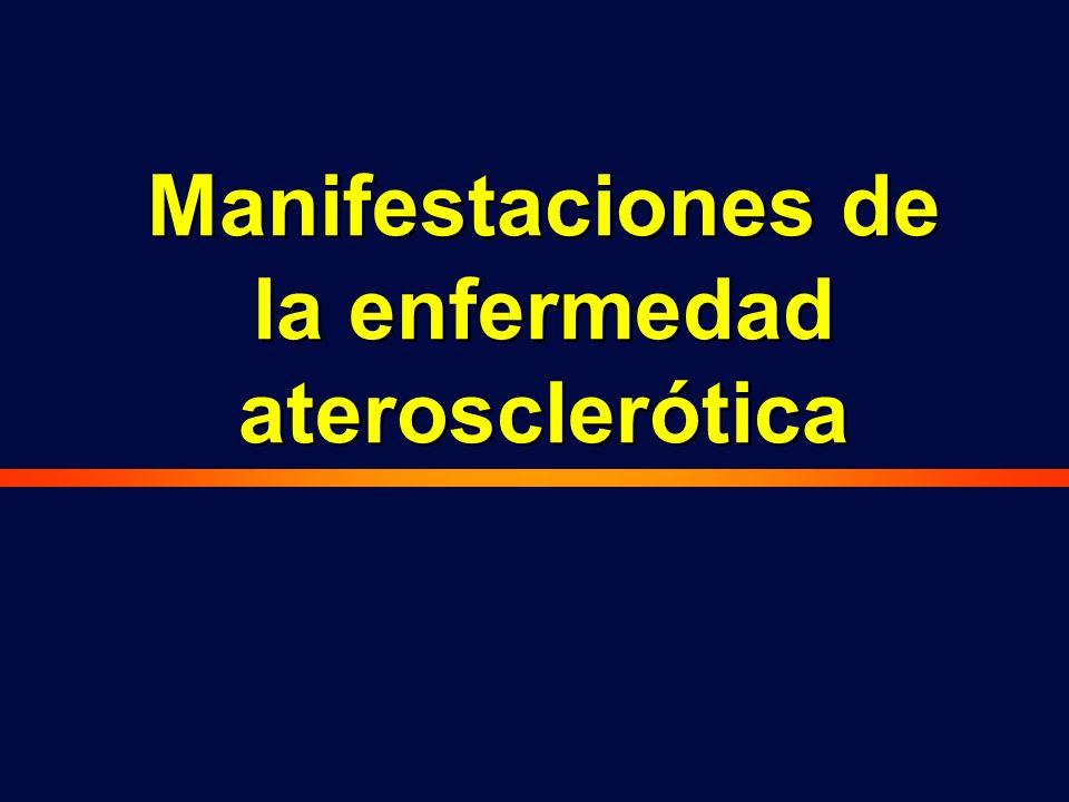 Manifestaciones de la enfermedad aterosclerótica