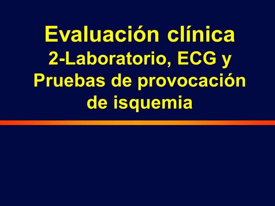 2-Laboratorio, ECG y Pruebas de provocación de isquemia