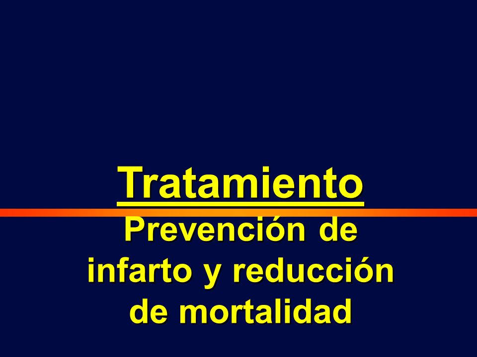 Prevención de infarto y reducción de mortalidad