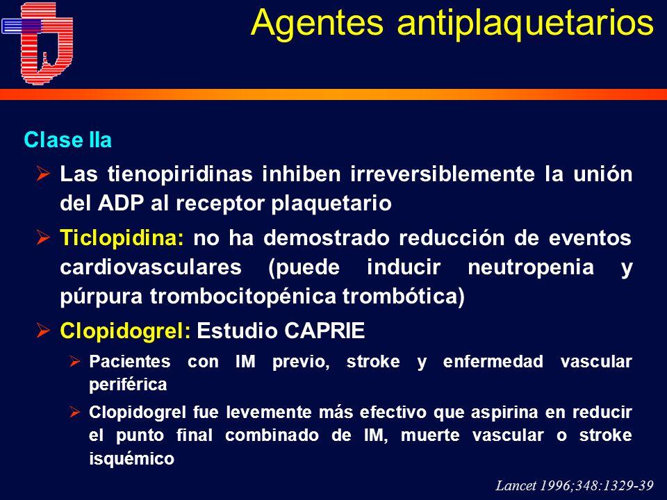 Agentes antiplaquetarios