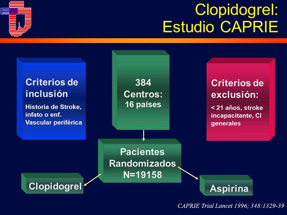 Clopidogrel: Estudio CAPRIE
