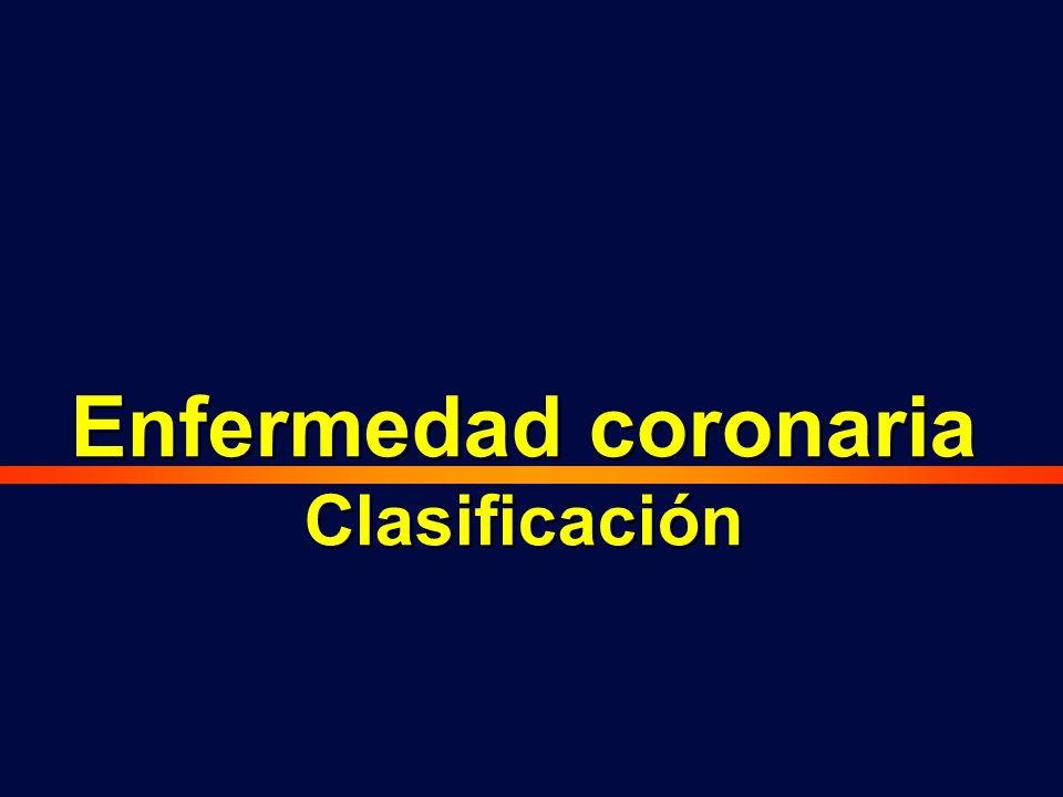 Enfermedad coronaria Clasificación