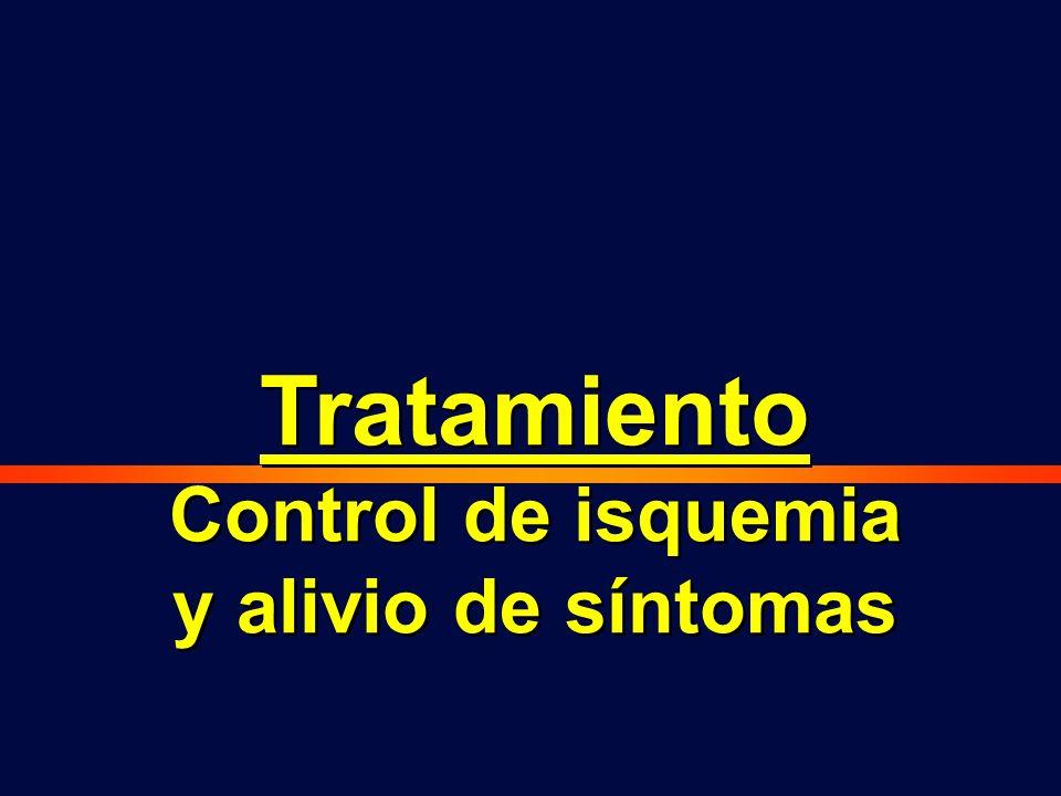 Control de isquemia y alivio de síntomas