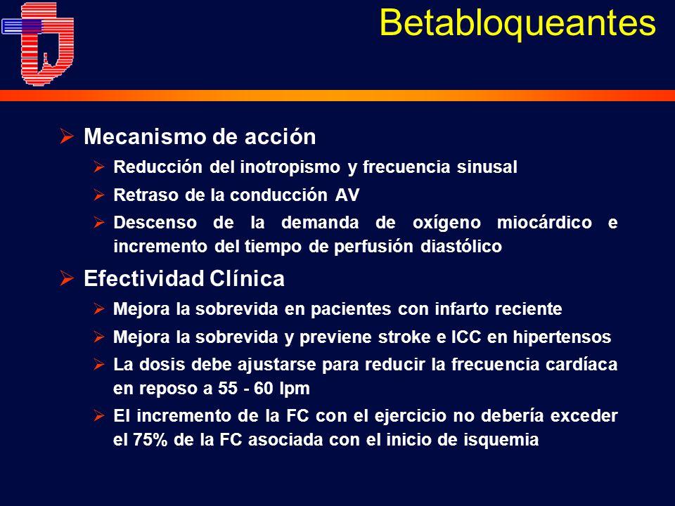 Betabloqueantes Mecanismo de acción Efectividad Clínica