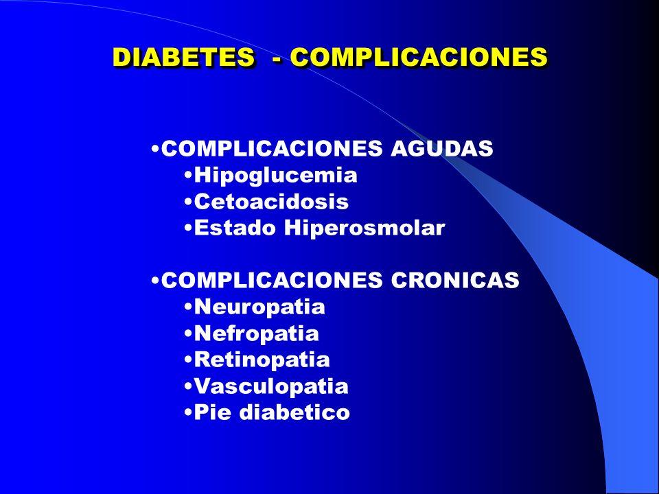 DIABETES - COMPLICACIONES