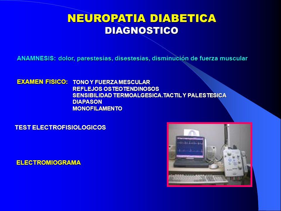 NEUROPATIA DIABETICA DIAGNOSTICO