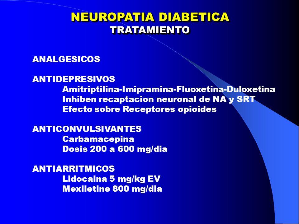 NEUROPATIA DIABETICA TRATAMIENTO ANALGESICOS ANTIDEPRESIVOS