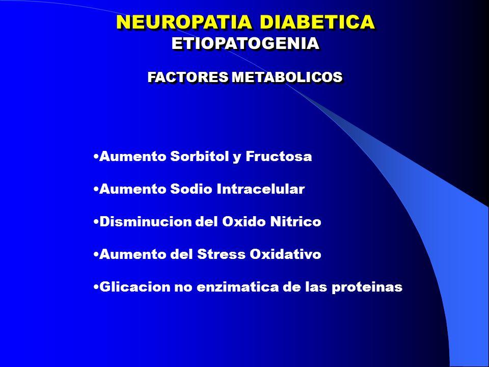 NEUROPATIA DIABETICA ETIOPATOGENIA FACTORES METABOLICOS