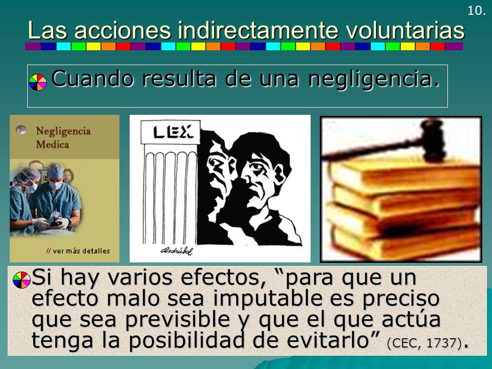 Las acciones indirectamente voluntarias