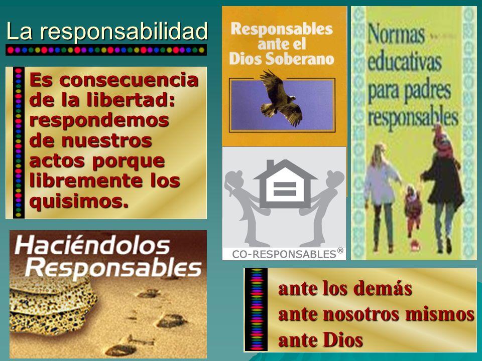 La responsabilidad ante los demás ante nosotros mismos ante Dios