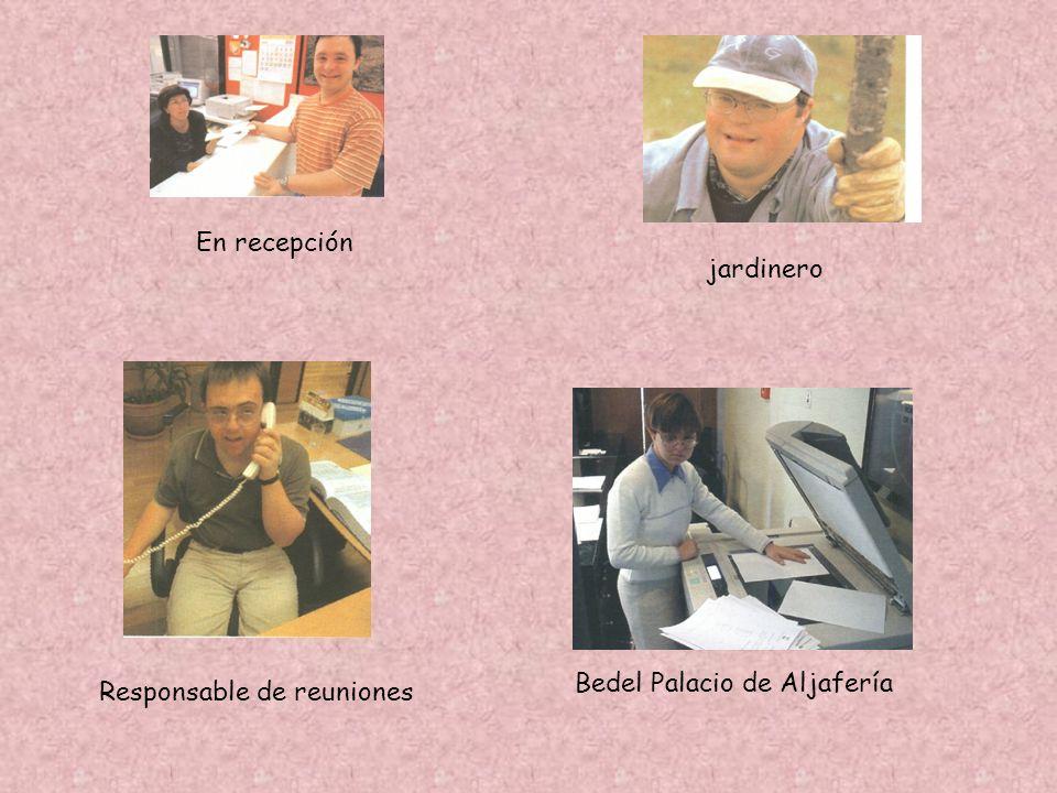 En recepción jardinero Bedel Palacio de Aljafería Responsable de reuniones