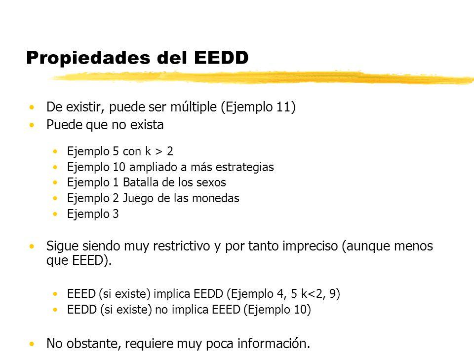Propiedades del EEDD De existir, puede ser múltiple (Ejemplo 11)