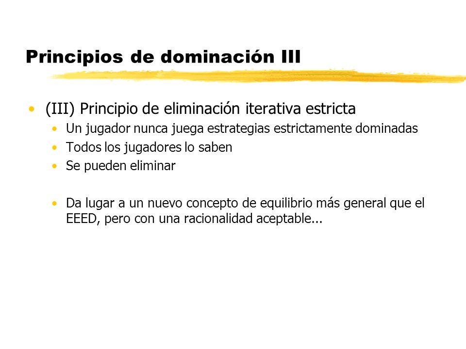 Principios de dominación III