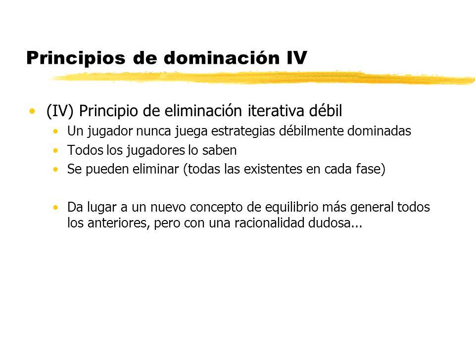 Principios de dominación IV