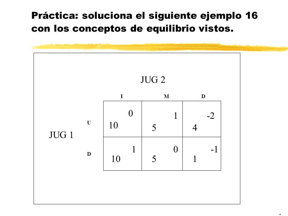 Práctica: soluciona el siguiente ejemplo 16 con los conceptos de equilibrio vistos.