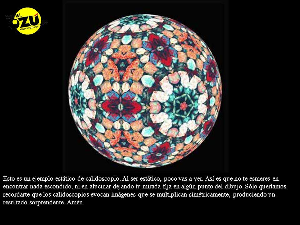 Esto es un ejemplo estático de calidoscopio