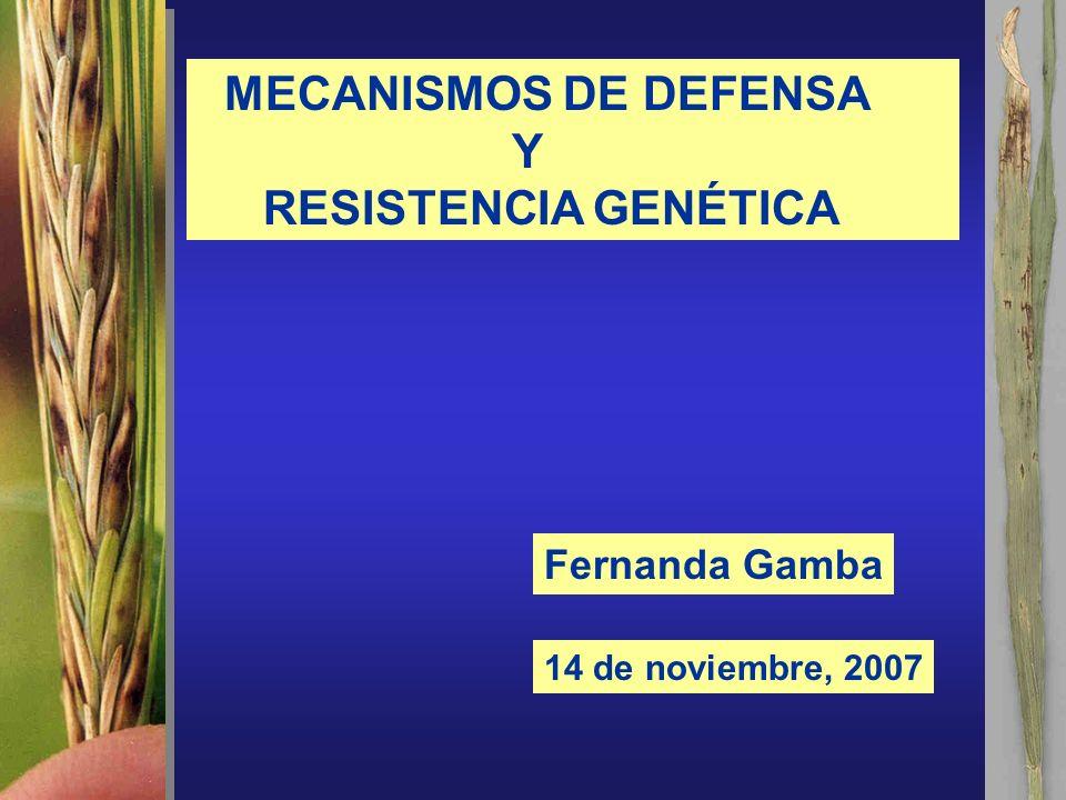 MECANISMOS DE DEFENSA Y RESISTENCIA GENÉTICA